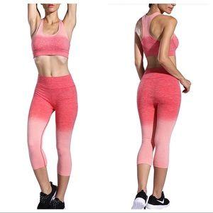 Pink ombré workout set